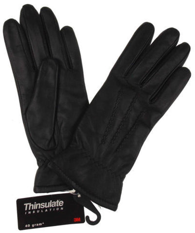 Jaclyn Smith Leather Driving Dress Gloves 3M Thinsulate Lined Womens Winter NEW - FUNsational Finds - 1