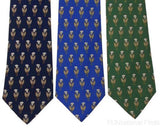 Lot 3 Olimpo 100% Silk Neck Ties Lilly Flower Blue Navy Green Mens Classic Dress - FUNsational Finds - 1