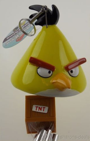 Angry Birds Wind Chime Yellow Crystal TNT Lock Rovio Chuck Speedy Patio Decor - FUNsational Finds - 1