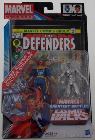 Marvel Universe Defenders Silver Surfer Doctor Strange Greatest Battles Comic - FUNsational Finds - 1