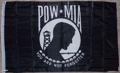 3'x5' Flag POW MIA You Are Not Forgotton Military Wall Hanging Decor Banner NEW - FUNsational Finds - 1