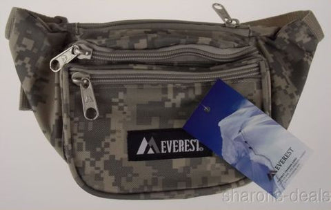 "Everest Fanny Pack Camouflage Digital Camo 46"" Waist Pack 3 Zipper Compartments - FUNsational Finds - 1"