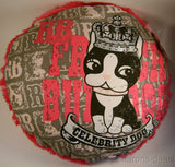 Rebecca Bonbon Paris Celebrity Dog Decorative Pillow Pink Polyester Round Plush - FUNsational Finds - 1