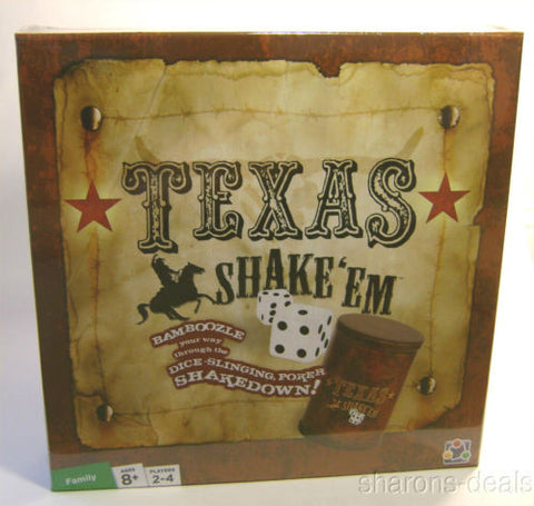 Texas Shake Em Poker Board Game Dice Chips Shaker Wager Fun Discovery Bay Family - FUNsational Finds