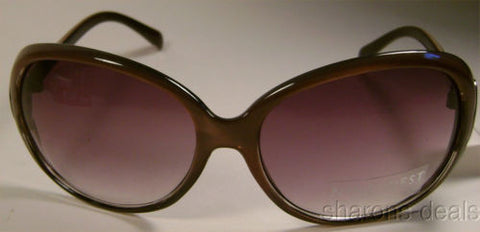 Nine West Round Sunglasses Brown Purple Rhinestone 100% UV Protection Plastic - FUNsational Finds - 1