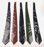 Lot 5 Olimpo 100% Silk Neckties Birds Navy Blue Green Red Classic Dress Business - FUNsational Finds - 2