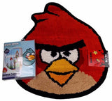Lot 2 Rovio Angry Birds Red Bath Rug Mat Blue Microfiber Shower Curtain Pigs Set - FUNsational Finds - 1