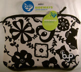 "BYO 12-13"" Ladybug Sideways Laptop Sleeve Black White Zipper Bag Carry Case NEW - FUNsational Finds - 1"