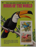 Golden Stamp Book Birds Of The World White 6th Printing 1976 Stickers Vintage - FUNsational Finds - 1