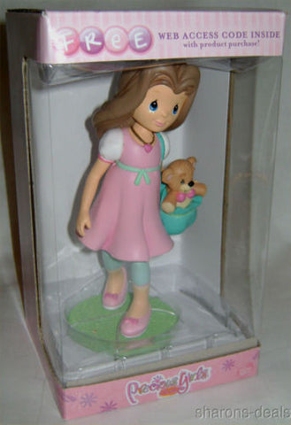 "Katie Bennet Figurine Precious Moments Girl Club 910080 7"" Teddy Bear Pink Dress - FUNsational Finds - 1"