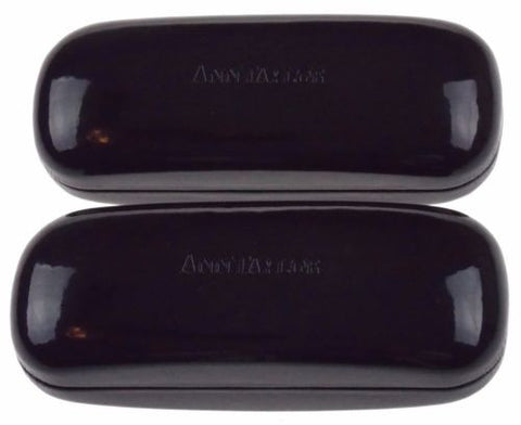 Lot 2 Ann Taylor Hard Case Reading Eye Sunglasses Padded Box Shiny Black Storage - FUNsational Finds - 1