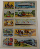 Golden Play Book Transportation Stamps Stickers Cooke 1955 Vintage Train Jet Car - FUNsational Finds - 2