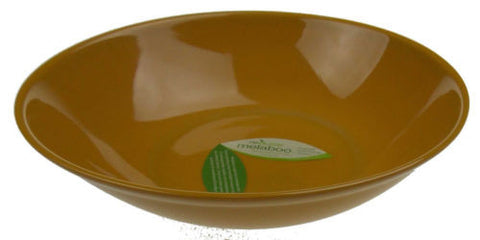 "Reduce Melaboo 12"" Large Serving Bowl Gold Biodegradable Bamboo Eco Friendly - FUNsational Finds"
