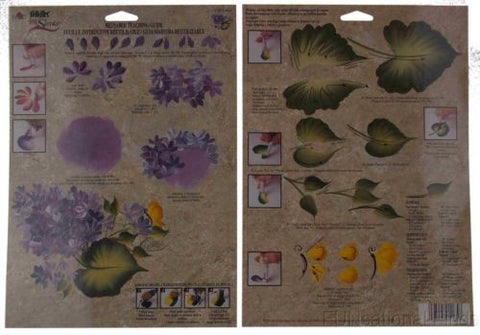 Lot 36 FolkArt One Stroke Painting Reusable Laminated Teaching Guide Lilacs 1165 - FUNsational Finds - 1