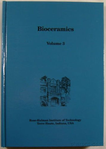 Bioceramics Volume 3 Rose Hulman Institute Technology Ceramics Medicine Hulbert - FUNsational Finds - 1