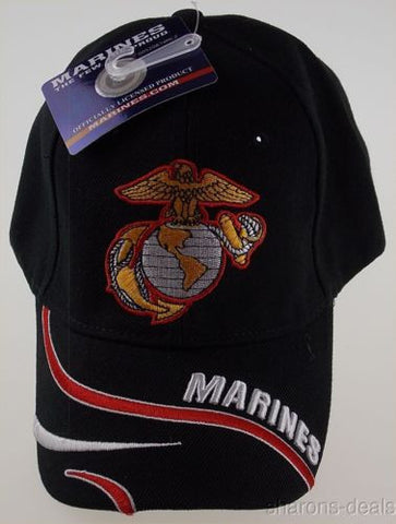 US Marines Few Proud Eagle Globe Baseball Cap Hat Black Embroidered Adjustable - FUNsational Finds - 1