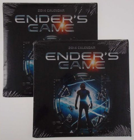 Lot 2 Enders Game Movie Scenes Novel 2014 Wall Calendar Collectible Sealed NEW - FUNsational Finds - 1