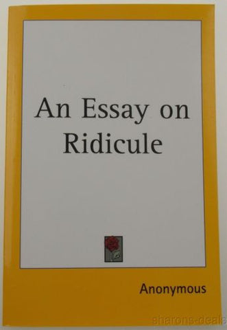 An Essay On Ridicule 1753 Kessinger Publishing 2004 PB Historical Reprint NEW - FUNsational Finds - 1