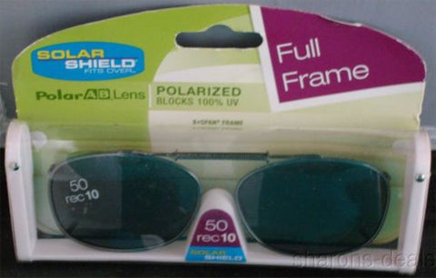 Lot 2 Solar Shield Sunglasses 50 Rectangle Polarized Gray UVAB Stretch PolarAB - FUNsational Finds - 1