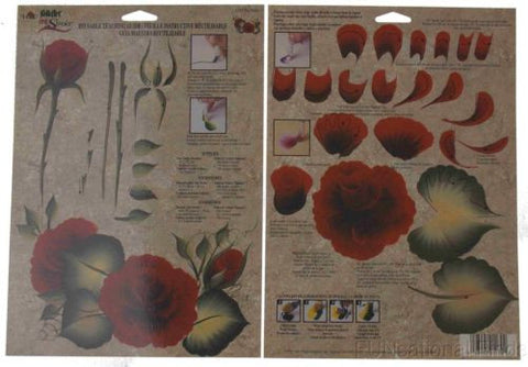 Lot 36 FolkArt One Stroke Reusable Painting Teaching Guide Tea Rose 1170 Plaid - FUNsational Finds - 1