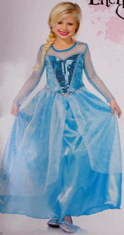 Enchanted Girls S Fantasy Snow Queen Princess Halloween Costume Dress Up Purim - FUNsational Finds - 1