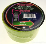 "Lot 6 Rolls Neon Green Duct Tape 2""x10' USA Fashion Mode Craft Decorating Repair - FUNsational Finds - 2"
