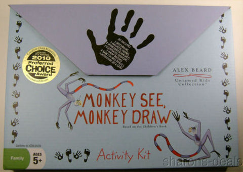 NEW Alex Beard Activity Kit Monkey See Draw Easel Frames Sketch Book Artist Set - FUNsational Finds - 1
