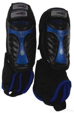 Lot 2 Mitre GW Plus Peewee Shin Guards Protection Soccer Removable Anklet Bottle - FUNsational Finds - 1