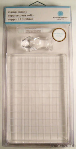 Lot 4 Martha Stewart Crafts Stamp Mount 4x6 Clear Handle Acrylic Glue Scrapbook - FUNsational Finds