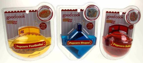 Lot 3 Good Cook Jolly Time Popcorn Baller Shaper Football Round Cube Non Stick - FUNsational Finds - 1