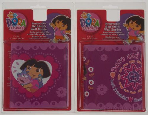 Lot 2 Nickelodeon Nick Jr Dora The Explorer Removable Self Stick Wall Border NEW - FUNsational Finds - 1