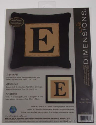 Dimensions Counted Cross Stitch Alphabet Letter Pillow Frame Kit 8x8 70-35276 - FUNsational Finds