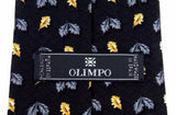 Lot 3 Olimpo 100% Silk Neckties Leaves Leaf Classic Dress Business Fall Autumn - FUNsational Finds - 5