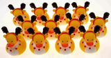 Set 12 Christmas Reindeer Rubber Ducks Duckie Party Favors Cake Toppers Dozen - FUNsational Finds - 3