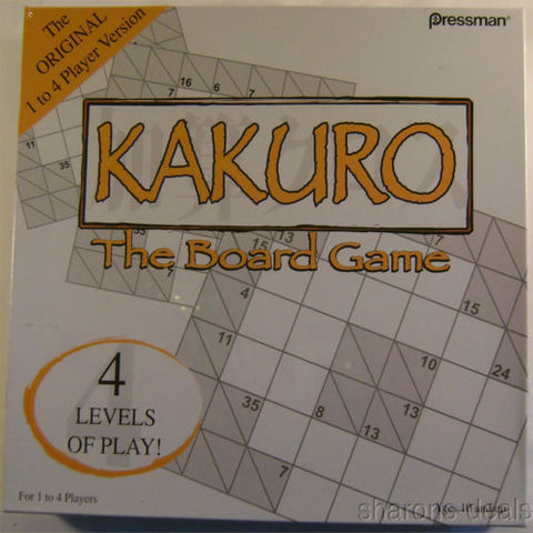 Kakuro the Board Game Sudoku Crossword Puzzle Family Markers Timer 4 Levels Play - FUNsational Finds - 1