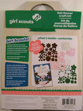 Lot 3 Girl Scouts Felt Flower Craft Kit Idea Guide Project Colorbok Crystals NEW - FUNsational Finds - 2