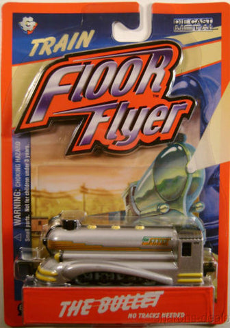 Floor Flyer Bullet Train Steam Engine Die Cast Gear Box Toys No Track Needed NEW - FUNsational Finds