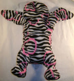 Plush Love Pups Pillow Dog Black White Zebra Pink Silicone Rubber Band Bracelets - FUNsational Finds - 2
