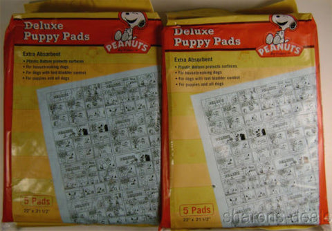 Lot 24 Packs Peanuts Snoopy Deluxe Puppy Pads Waterproof Training 120 Absorbent - FUNsational Finds