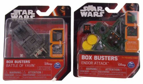 Star Wars Box Busters Set Battle of Yavin Endor Attack Disney Spin Master Lot 2
