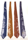 Lot 4 Olimpo 100% Silk Neckties Street Lights Lamp Post Red Blue Gold Mens Dress - FUNsational Finds - 2