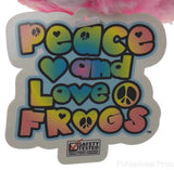 I Love Music Peace and Love Frog Pink Red Hanging Soft Plush Embroidered - FUNsational Finds - 6