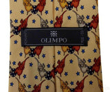Lot 4 Olimpo 100% Silk Neck Ties Juggling Circus Clown Unicycle Elephants Tiger - FUNsational Finds - 4