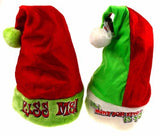 Set 2 Santa Hats Adult Kiss Me & All I Want For Xmas Is You Plush Holiday Party - FUNsational Finds - 1