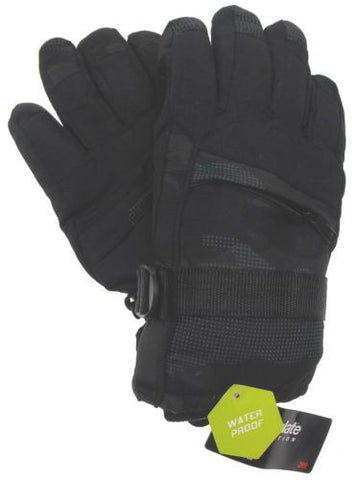 Athletech Mens Black Gloves 3M Thinsulate Insulation Waterproof S/M Warm Winter - FUNsational Finds - 1