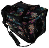 Uncle Jerrys T's Floral Insulated Cooler Black Colorful Flowers Storage Pocket - FUNsational Finds - 2