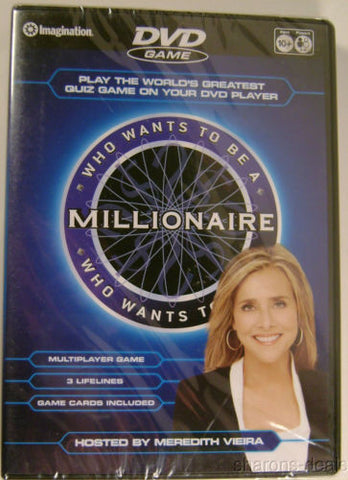 Lot 3 Who Wants To Be A Millionaire DVD Game Imagination Meredith Vieira Sealed - FUNsational Finds