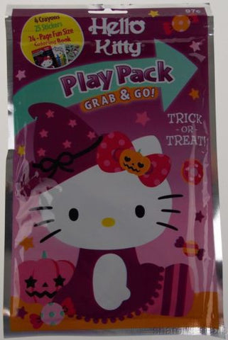 Hello Kitty Play Pack Grab & Go Set 12 Coloring Books Crayons Stickers Halloween - FUNsational Finds - 1