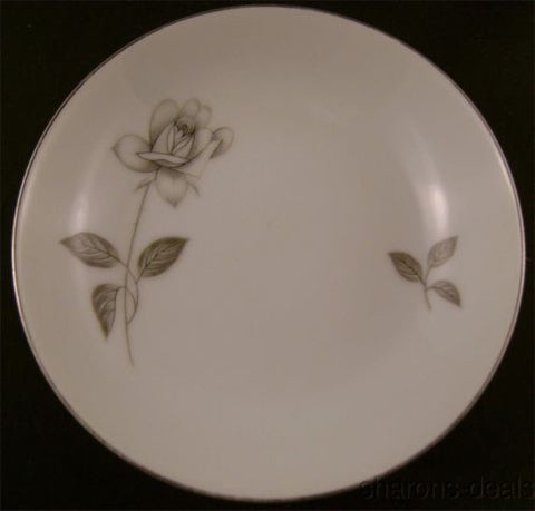 "Queens Royal Fine China Rosebud Platinum Rose Fruit Bowl Small Japan Silver 5.5"" - FUNsational Finds - 1"