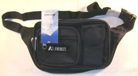 "Everest Large Fanny Waist Pack Navy Blue Zippered Multiple Pocket Adjustable 59"" - FUNsational Finds - 1"